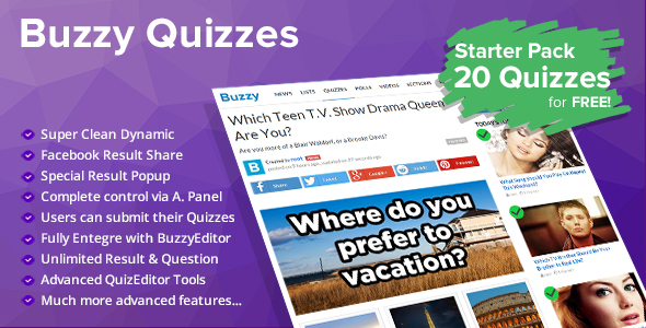 Quizzes Plugin for Buzzy
